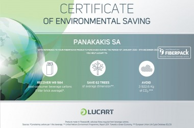 Environmental Saving Calculator Certificate